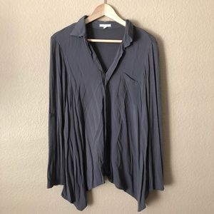 Pleione collared dark gray shirt